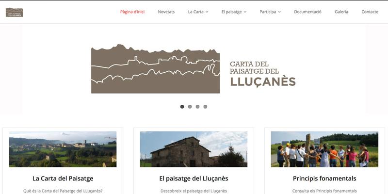 Web de la Carta del Paisatge del Consorci del Lluçanès