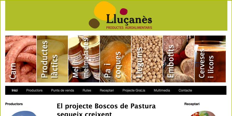 Web de Productes Locals del Consorci del Lluçanès