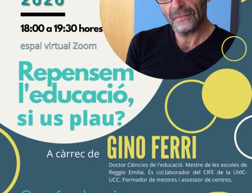 Xerrada de Gino Ferri al Lluçanès: Repensem l'educació, si us plau?