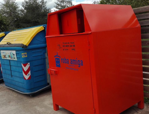 S'han instal·lat 11 nous contenidors de roba usada al Lluçanès