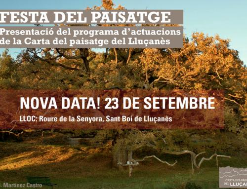 23 de setembre, nova data de la festa del paisatge