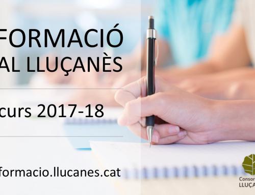 A punt la nova programació de formació al Lluçanès febrer-juny 2018