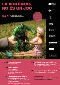 Cartell Dia Internacional contra la violència vers les dones al Lluçanès