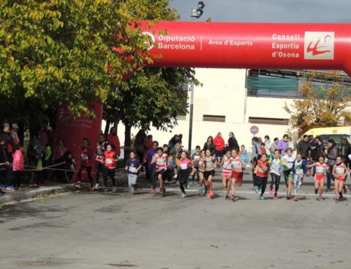 Bona participació al 10è Cros Escolar de Prats de Lluçanès