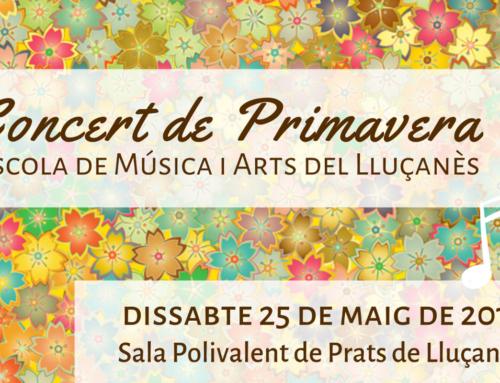 Arriba el concert de primavera de l'Escola de Música i Arts del Lluçanès