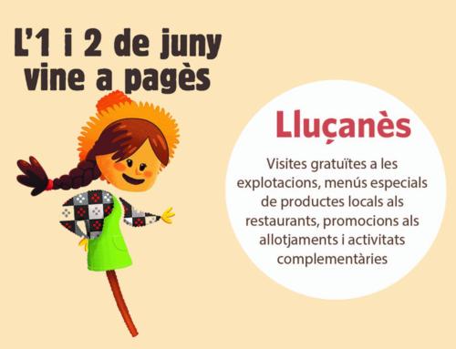 T'esperem al Lluçanès pel Benvinguts a Pagès!