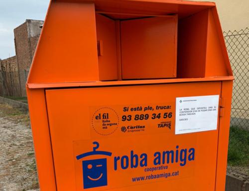 Es recullen 18.405 quilos de roba usada durant el 2019 al Lluçanès