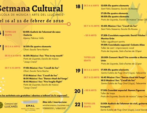 La Setmana Cultural de l'EMAL proposa una vintena d'activitats gratuïtes