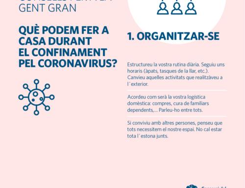 Com ha d'afrontar la gent gran el coronavirus?