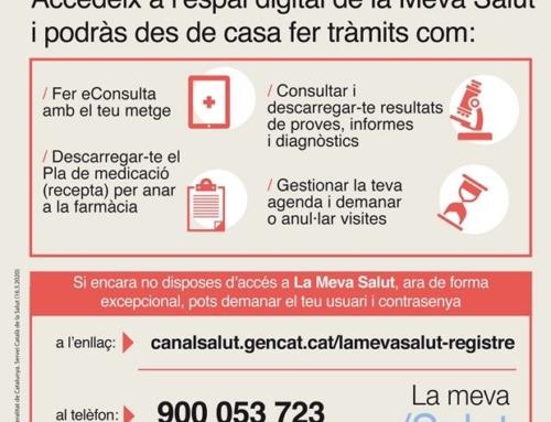 Modificacions en la tramitació de les receptes mèdiques per evitar desplaçaments als centres de salut