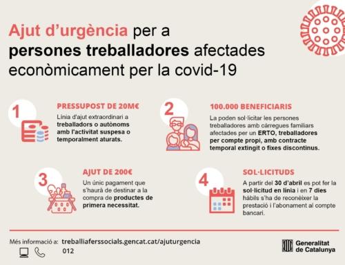 Prestació d'urgència per a subministraments bàsics per a persones terballadores