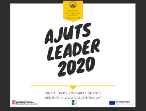 Nova convocatòria dels Ajuts LEADER – 2020